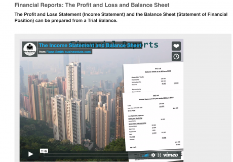 video financial statements
